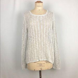 Eiileen fisher gray knit long sleeve sweater sz:XL